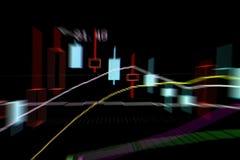 Gráficos do mercado de valores de ação Fotos de Stock Royalty Free