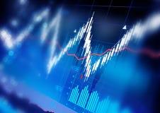 Gráficos do mercado de valores de ação Imagens de Stock