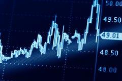 Gráficos do mercado de valores de ação Foto de Stock Royalty Free