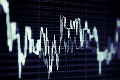 Gráficos do mercado de valores de ação no tela de computador Fotos de Stock