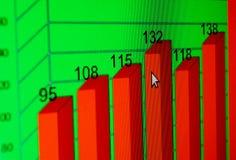 Gráficos do mercado de valores de acção Fotos de Stock Royalty Free