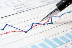 Gráficos do mercado de valores de acção. Imagem de Stock