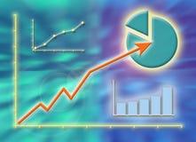 Gráficos do sucesso de negócio Imagens de Stock