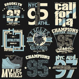 Gráficos do t-shirt de New York ilustração royalty free