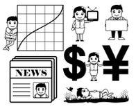 Gráficos dos desenhos animados do negócio ilustração stock