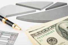 Gráficos e cartas do mercado de valores de acção Fotografia de Stock Royalty Free