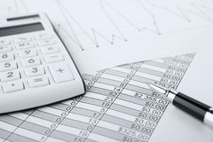 Gráficos e cartas do mercado de valores de acção Foto de Stock