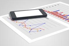 Gráficos e estatísticas Fotos de Stock