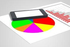 Gráficos e estatísticas Fotografia de Stock Royalty Free