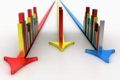 Gráficos elegantes de la flecha aislados en el fondo blanco Imagen de archivo