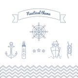 Gráficos en el tema marino Fotografía de archivo libre de regalías