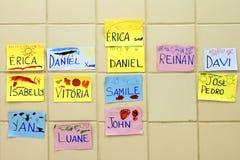 Gráficos en una escuela del niño Fotos de archivo libres de regalías
