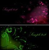 Gráficos escuros da flor Fotografia de Stock