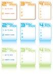 Gráficos fáceis da informação das etapas Imagens de Stock Royalty Free