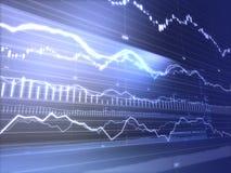 Gráficos financeiros Ilustração do Vetor