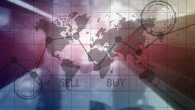 Gráficos financeiros da carta do investimento de troca dos estrangeiros Conceito do negócio e da tecnologia fotos de stock
