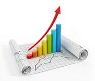 Gráficos financieros fotografía de archivo