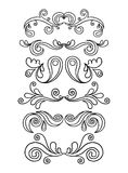 Gráficos florais do vintage Imagem de Stock
