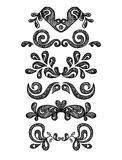 Gráficos florais do vintage ajustados Foto de Stock Royalty Free