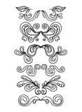 Gráficos florais do vintage ajustados Imagens de Stock