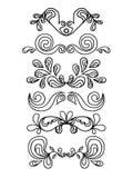 Gráficos florais do vintage ajustados Imagem de Stock