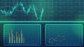 Gráficos gerados por computador do crescimento do GDP do país, previsão do desenvolvimento econômico ilustração royalty free