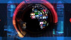 Gráficos globales de la tecnología de los medios de noticias ilustración del vector