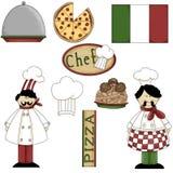 Gráficos italianos 1 del cocinero Fotos de archivo libres de regalías