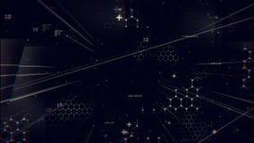 gráficos Las líneas, las rejillas y los códigos abstractos se cambian stock de ilustración