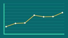 Gráficos lineares com linha central animation video estoque