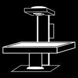 Gráficos médicos da silhueta da tecnologia do raio X da tabela Fotografia de Stock Royalty Free