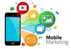 Gráficos móviles del márketing stock de ilustración