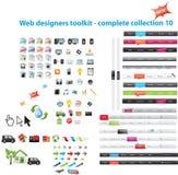 Gráficos misturados do Web Imagem de Stock Royalty Free