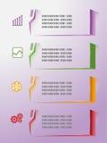 Gráficos modernos da informação coloridos Ilustração Stock