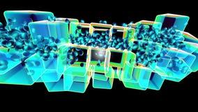 Gráficos musicais de dança do cubo da cor ilustração royalty free