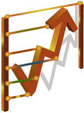 Gráficos para a finança Ilustração do Vetor