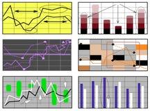Gráficos para las finanzas, Foto de archivo libre de regalías