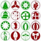 Gráficos simples do Natal Fotografia de Stock Royalty Free