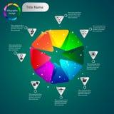 Gráficos volumétricos de la información del color para el negocio Imágenes de archivo libres de regalías