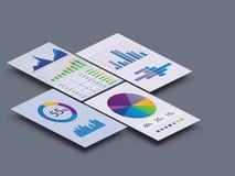 Gráficos y cartas stock de ilustración