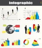Gráficos y elementos de Infographic Fotos de archivo