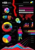 Gráficos y elementos del vector de Infographic libre illustration
