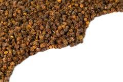 Gránulos del propóleos, producto de la abeja, composición del marco Imagen de archivo