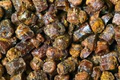 Gránulos textura, producto del propóleos de la abeja Fotografía de archivo libre de regalías