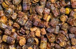 Gránulos textura, producto del propóleos de la abeja Imágenes de archivo libres de regalías