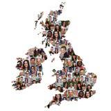Grâ Bretanha e a Irlanda traçam o grupo multicultural de peopl novo Foto de Stock