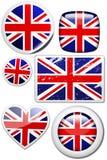 Grâ Bretanha - jogo das etiquetas e das teclas ilustração do vetor