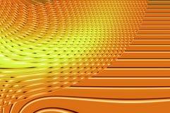 Grâce de la géométrie - dans l'orange. Image stock