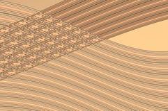 Grâce de la géométrie - dans le beige. Image stock