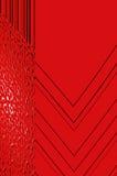 Grâce de la géométrie - en rouge. Image stock